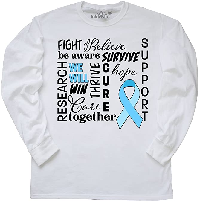 4f7c9096 inktastic - Prostate Cancer- Together We Long Sleeve T-Shirt Small White  2b94f