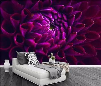 Yosot Benutzerdefiniertes Hintergrundbild Dunkel Lila Blume Wand Tv