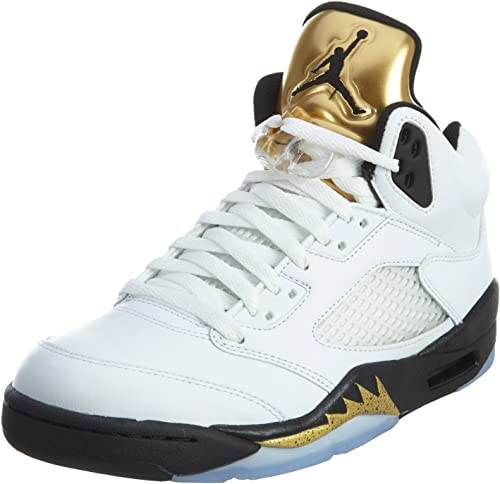 Nike - Air Jordan 5 Retro Gold Tongue - Colore: Bianco-Nero ...