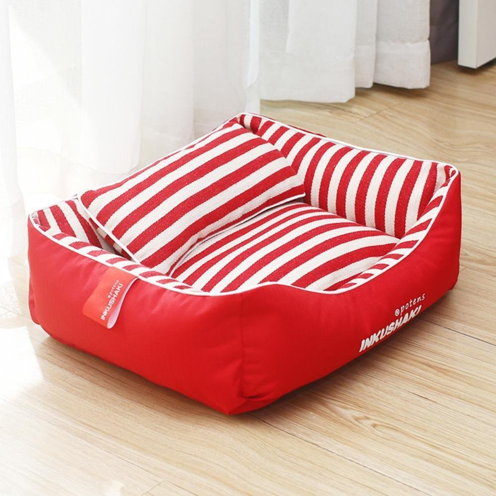A 35x45cm A 35x45cm WUTOLUO Pet Bolster Dog Bed Comfort Kennel Pet Litter Washable dog mat (color   A, Size   35x45cm)