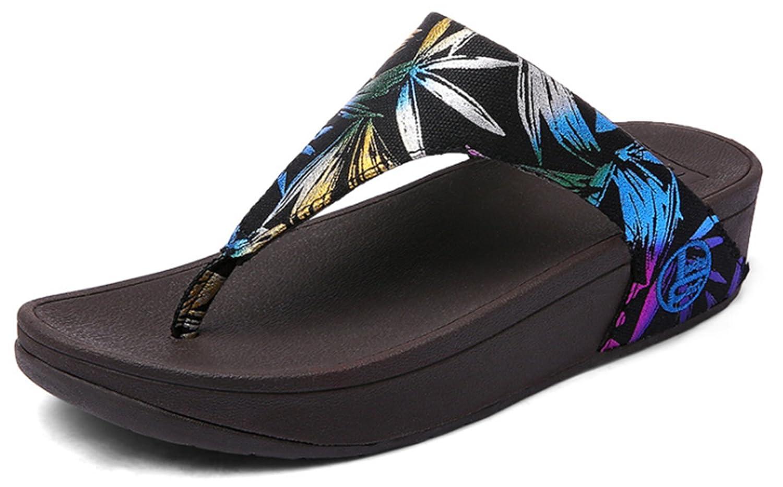 YOGLY B07GYTLD64 Marron Tongs Femme Compensée Chaussons D été été Sandales Clip Toe Flip Flops Comfortable Pantoufles de Plage Marron 826c199 - reprogrammed.space