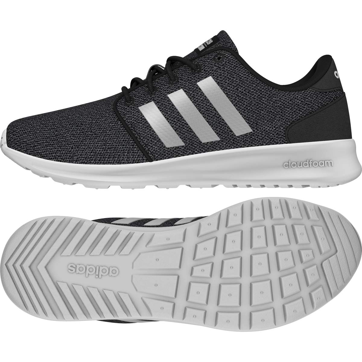 Core Black  Silver Met.  Grey Three Adidas Women's Cf Qt Racer W
