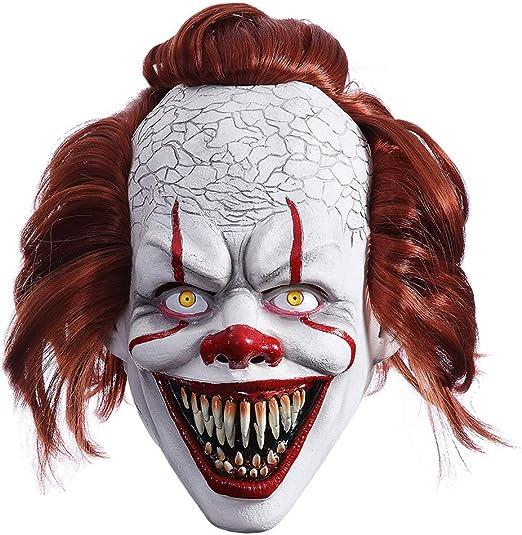 MICG Máscara de Payaso Asesino de Halloween, máscara de Payaso con ...