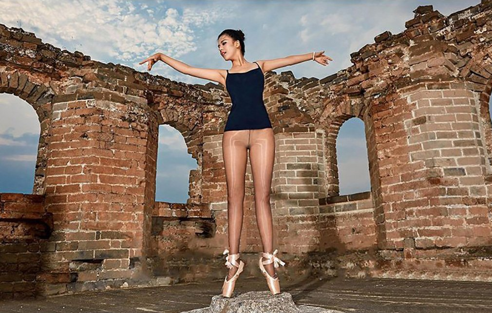 2 Pairs Shaping Socks Oil Socks Shiny Silk Stockings Pantyhose Dance Tights (Champagne 2) by RICHTOER (Image #6)
