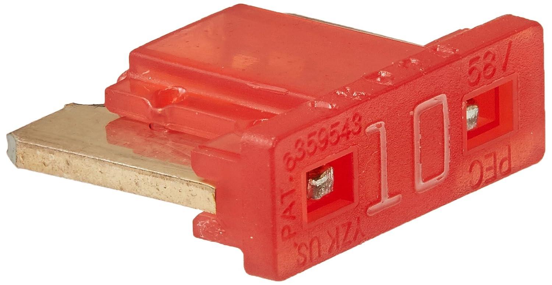 5 Pack Bussmann BP//ATM-10LP-RP 10 Amp Low Profile ATM Blade Fuse