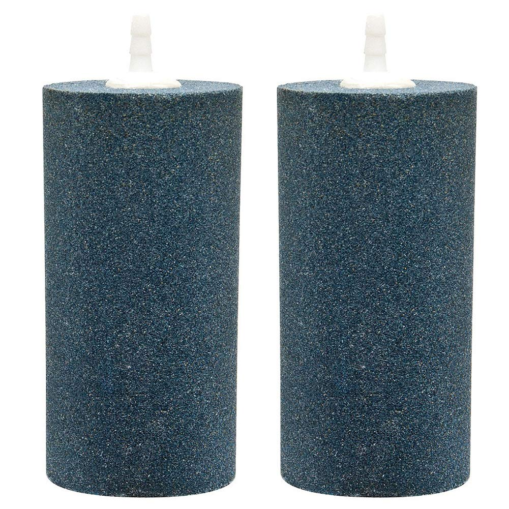 (2 Pack 10cm) Pawfly Air Stones Cylinder for Hydroponic Systems, Ponds, Aquarium Or Fish Tank, Air Stone Diffuser Produces Fine Bubbles