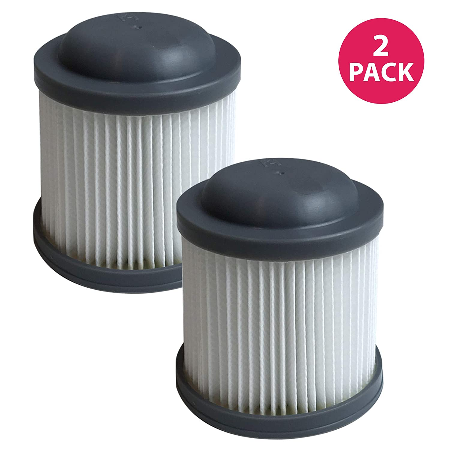 Think Crucial Replacement Vacuum Filters Compatible with Black and Decker Vacuums, Washable and Reusable Filter Part - Parts VF100, VF100H - Fits Model PVF110, PHV1210 and PHV1810 Bulk (2 Pack)
