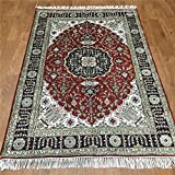 Yilong Carpet 4 x6  Hand Knotted Tabriz Persian Silk Rug Floral Medallion Handmade Living Room Carpet Y220C4x6