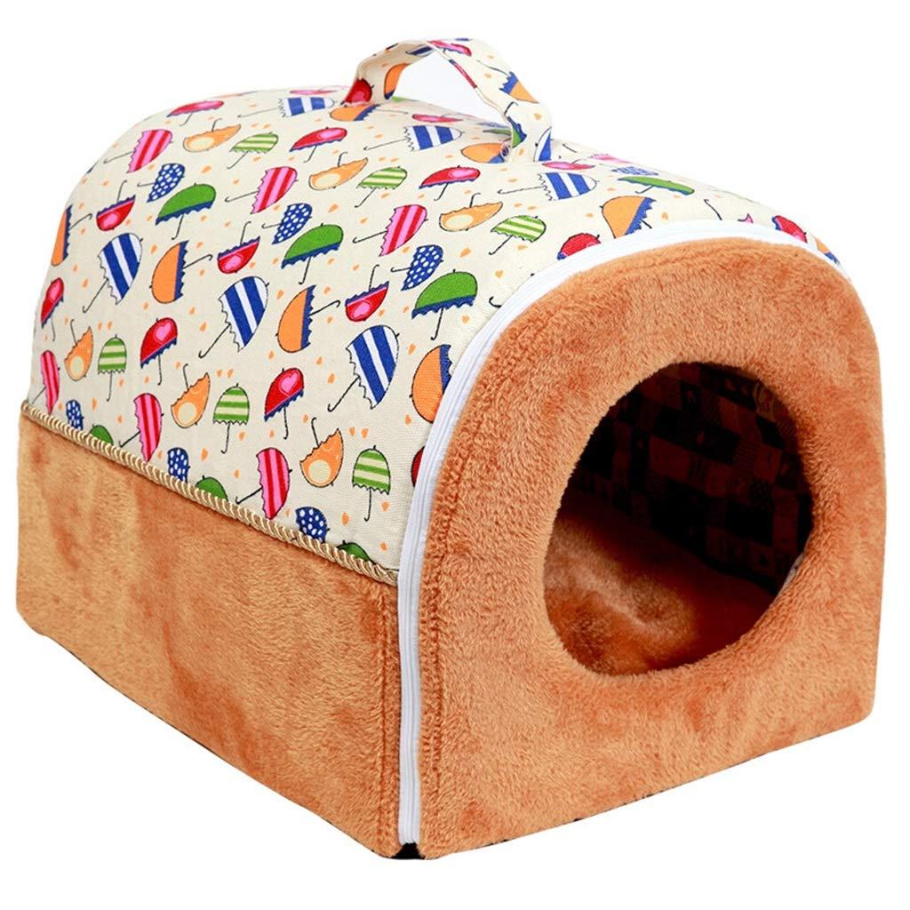 2  55cm47cm43cm 2  55cm47cm43cm DSADDSD Pet Nest Portable Kennel Pet Supplies Four Seasons Universal Cat Litter Folding (color   2 , Size   55cm47cm43cm)