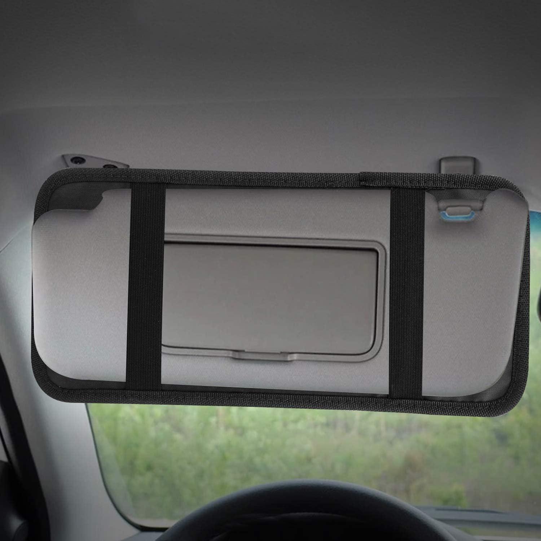 JUSTDOLIFE Car Sun Visor CD Holder Rectangle CD Organizer Disc Storage Case