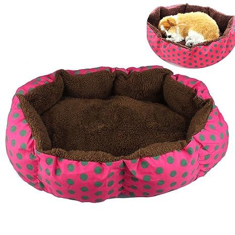 Algodón suave polar desmontable perro cachorro gato cama caliente casa felpa nido acogedor casa jaula estera