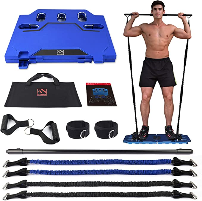 Exercise Equipment with Resistance Bands Bar