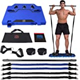 FITINDEX Portable Home Gym - Exercise Equipment with Resistance Bands Bar, Muscle Build Workout Equipment for Men/Women, Full