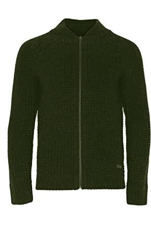 1addbbe29a1 Mens Brave Soul Merley Designer Zip Up Waffle Knitted Cardigan ...