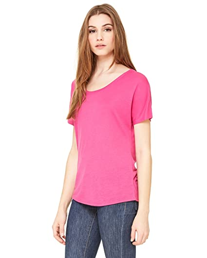 d8be361a Bella Canvas Women's Slouchy Curved Side-Seamed T-Shirt at Amazon ...