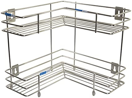 Buy Kitchen Mart Stainless Steel Corner Rack Stand 33 Cm X 45 5 Cm X 31 Cm 1 Piece Silver Online At Low Prices In India Amazon In
