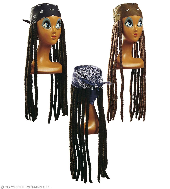 WIDMANN Rasta wig with bandana peluca