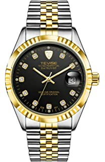 Automatic Watch Men Luxury Gold Mechanical Watches Waterproof Casual Stainless Steel Mens Wristwatch