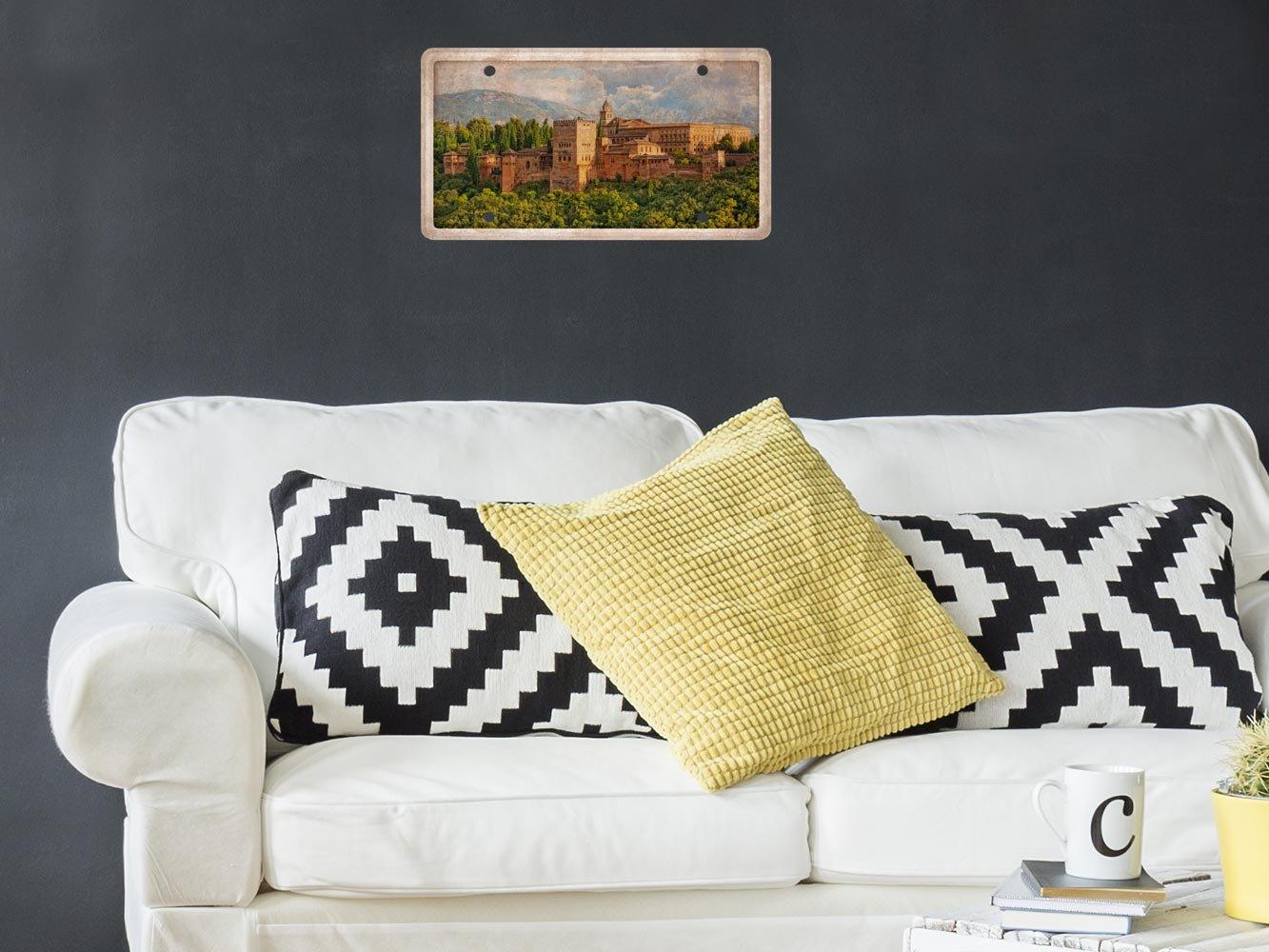 Matricula Decorativa 30,00 cm x 15,00 cm Paisaje Alhambra ...