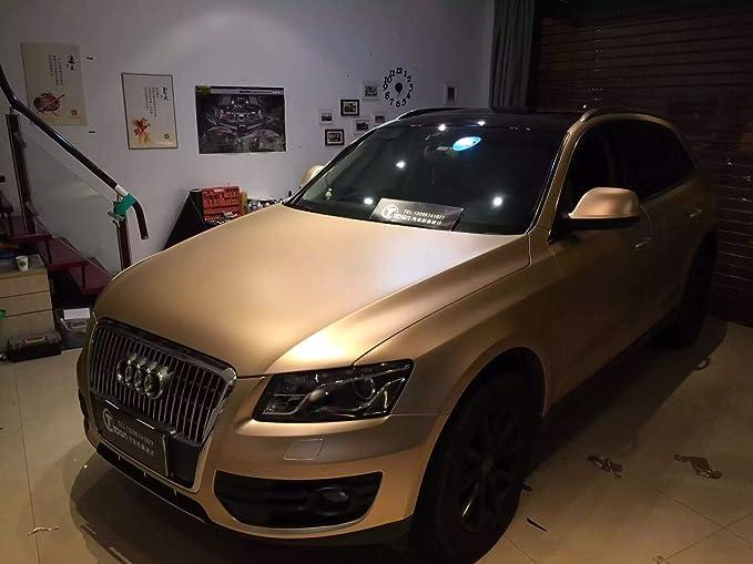 Car Wrapping Folie 1,5m x 1,52m 3D Chrom Matt SUNSET ORANGE Metallic mit Luftkan/älen