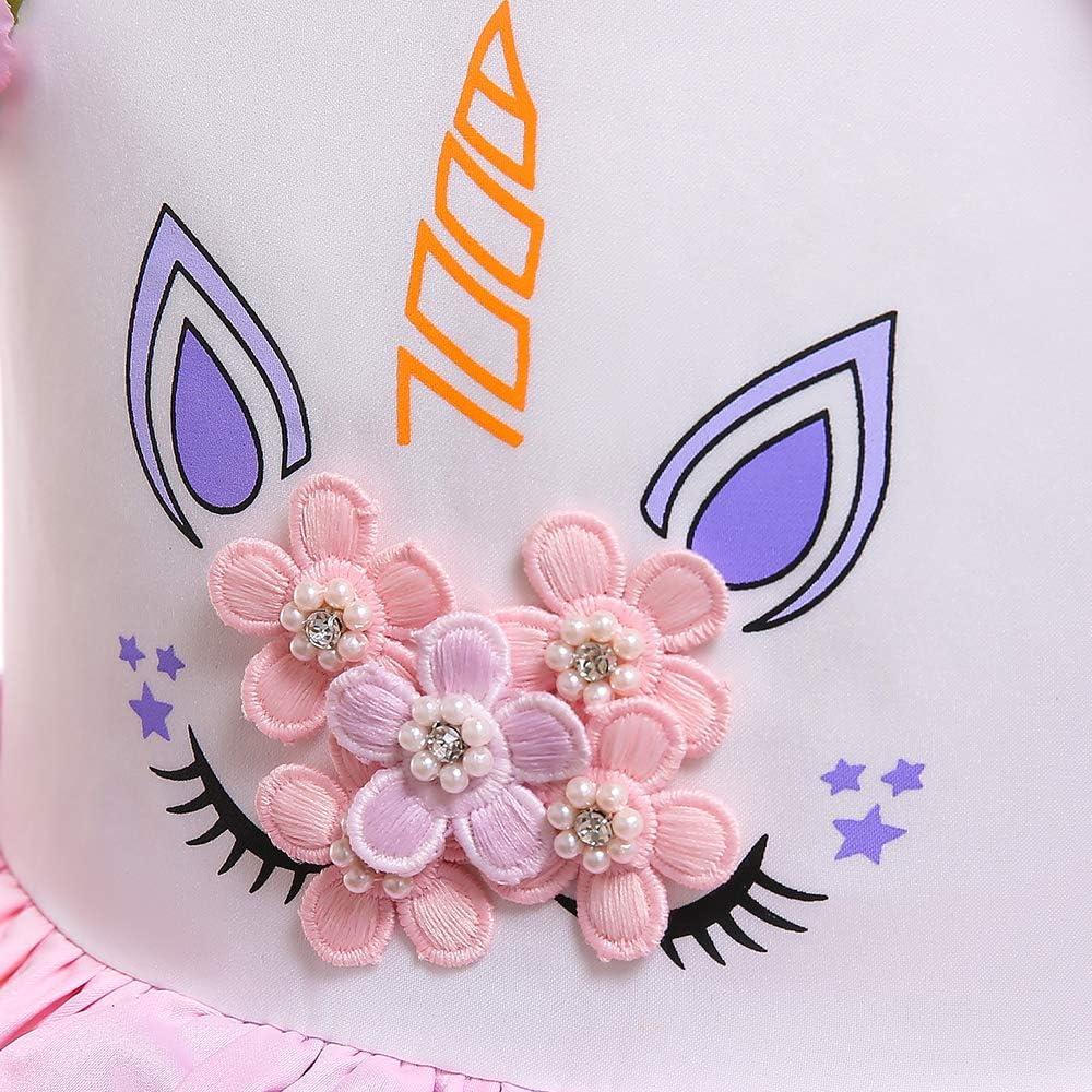 Zerayo Unicom Costumes for Girls Princess Holloween Party Tutu Tulle Dress