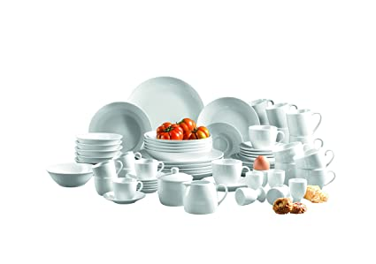 d8a61236e8d8 Domestic by Mäser Alesia Series Dinner Service, 62 Pieces for 6 people, perfect  starter