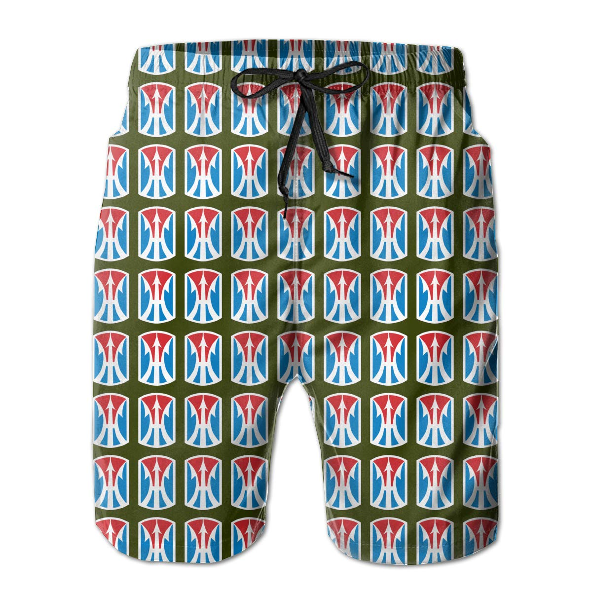 11th Infantry Brigade Mens Beach Shorts Swim Trunks Swimsuit