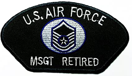 EMBROIDERY SEW//IRON ON PATCH USA AIR FORCE VETERAN