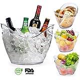 Balde Yobansa de acrílico transparente para hielo, ideal para poner botellas de vino o de champán