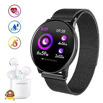 DUODUOGO Smartwatches Reloj Inteligente y Bluetooth Auriculares ...