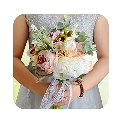 Slogan Not Fake Flower Bouquet Casamento Pink White Red Flowers