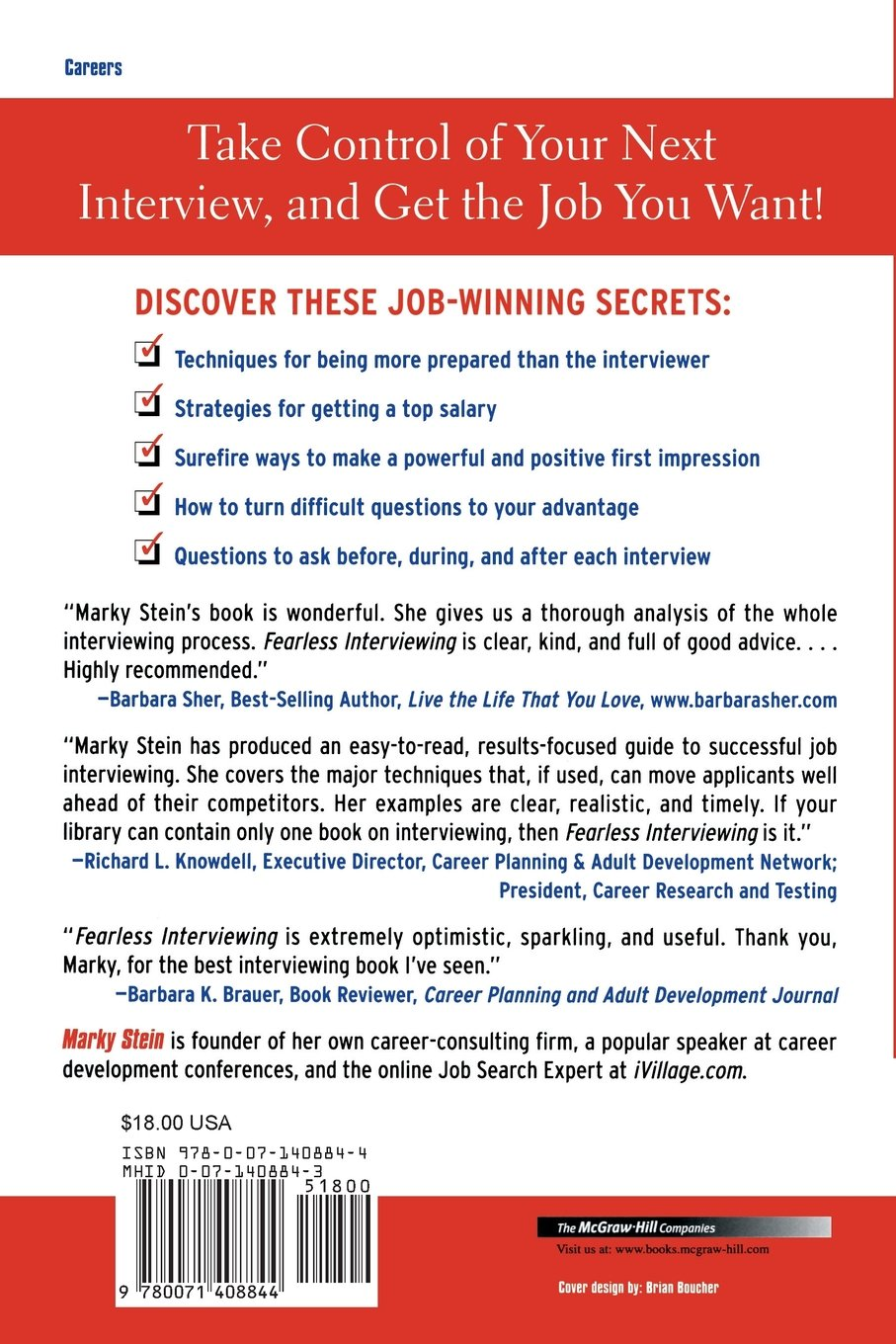 fearless interviewing how to win the job by communicating fearless interviewing how to win the job by communicating confidence marky stein 9780071415729 com books