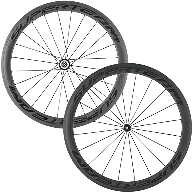 Review Superteam Carbon Fiber Road Bike Wheels 700C Clincher Wheelset 50mm Matte 23 width
