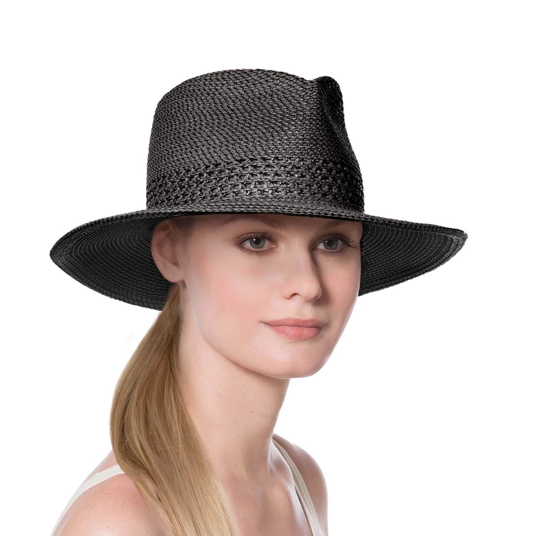 69c87db3b1eea Eric Javits Luxury Women s Designer Headwear Hat - Squishee Bayou - Black  at Amazon Women s Clothing store