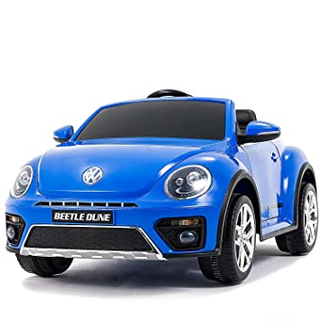 Uenjoy 12v Lovely Ride On Cars Volkswagen Beetle Children S Electric