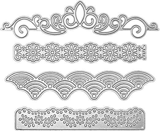 Happinter Die Cuts,Mice Lace Metal Cutting Die Cuts for Card Making Metal Mould Template for DIY Scrapbook Album Embossing Crafts Decor