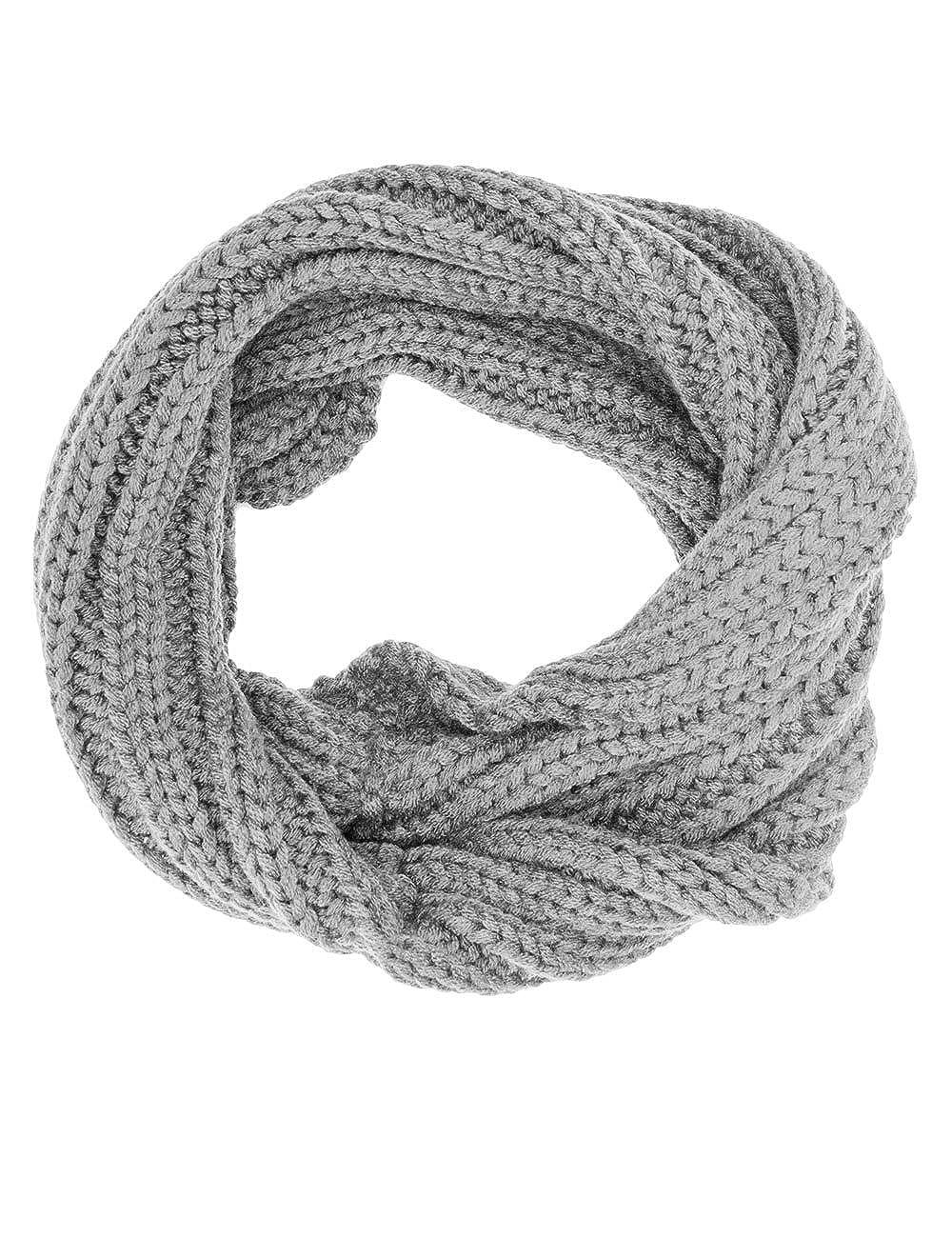 MaxiMo Loop, Gedreht, Einfarbig, Sciarpa Bambino Blu (Dunkelmarine 11) Taglia Unica 63673-722500