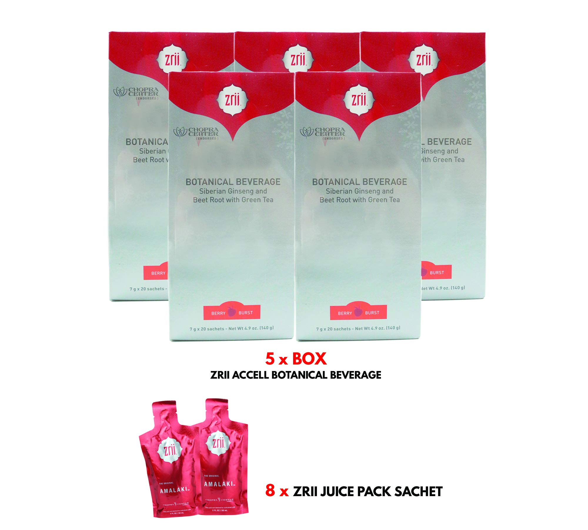 Zrii Accell Botanical Beverage (Green Tea Formula) x 5 Boxes with Free Gift + Free Shipping