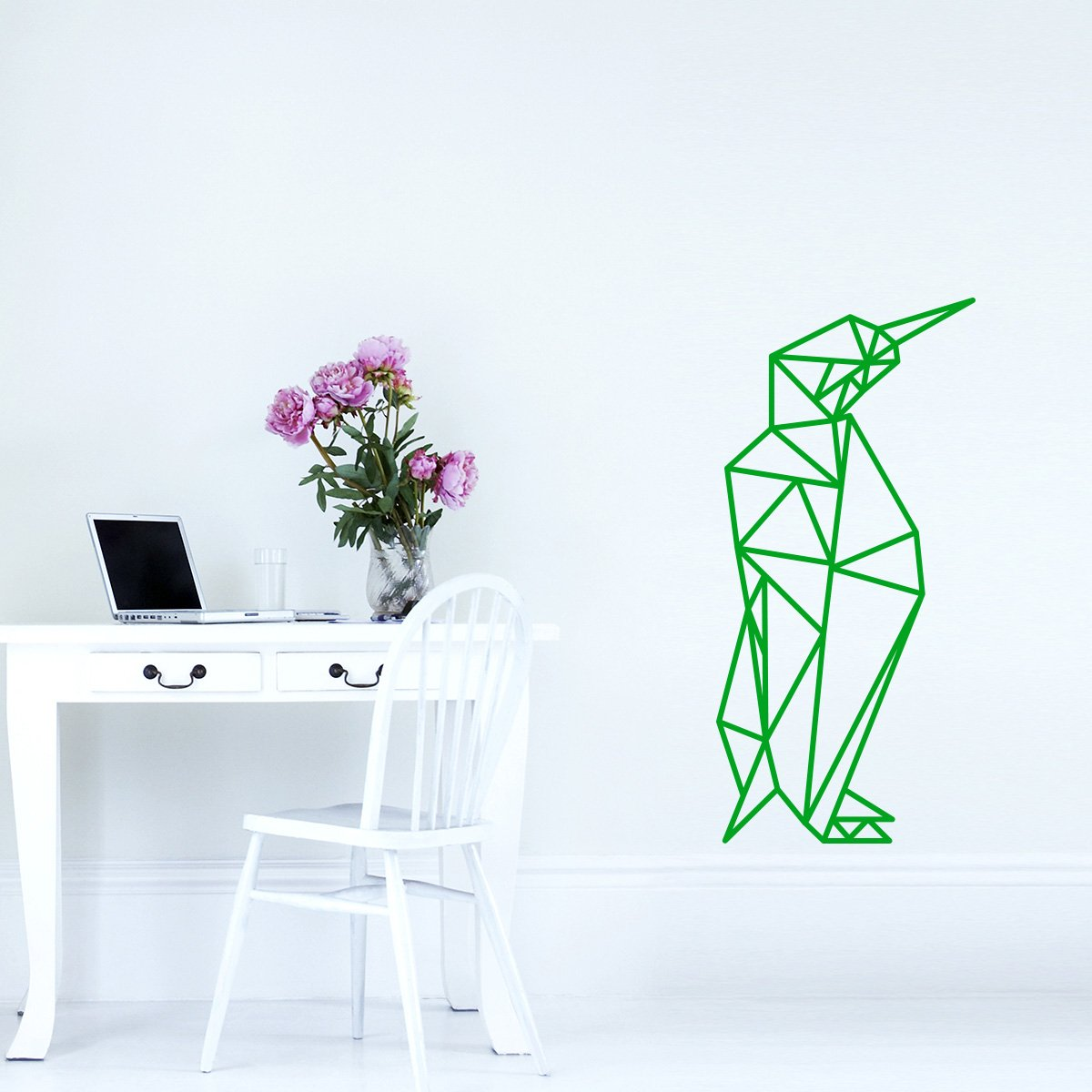 WANDKINGS Wandtattoo - Origami-Style Pinguin - 52 x 110 cm cm cm - HellRosa - Wähle aus 5 Größen & 35 Farben B07BRJ9PJX Wandsticker & Wandfiguren a32bcb