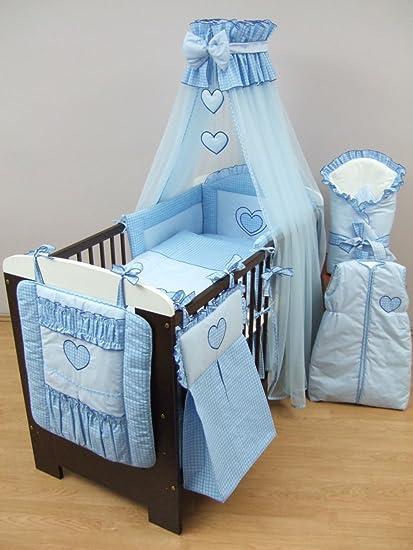 16 piezas bordado bebé Juego de ropa de cama, organizador de cuna, cortinas para