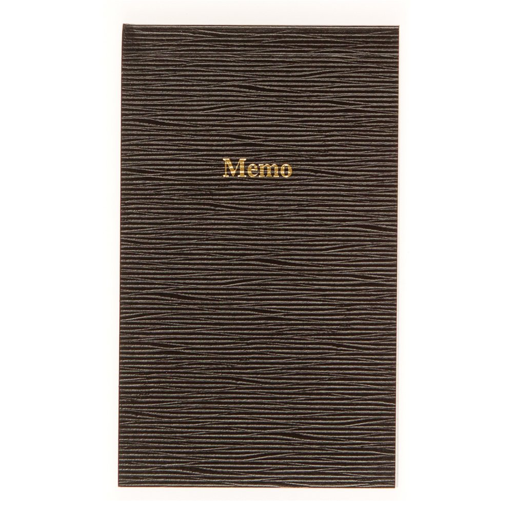 Blueline Memo Pad, Black, 3.625 x 6 Inches, 100 Pages (A435)