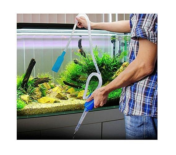 Aspirador manual con bomba para tener un acuario más limpio: Amazon.es: Hogar