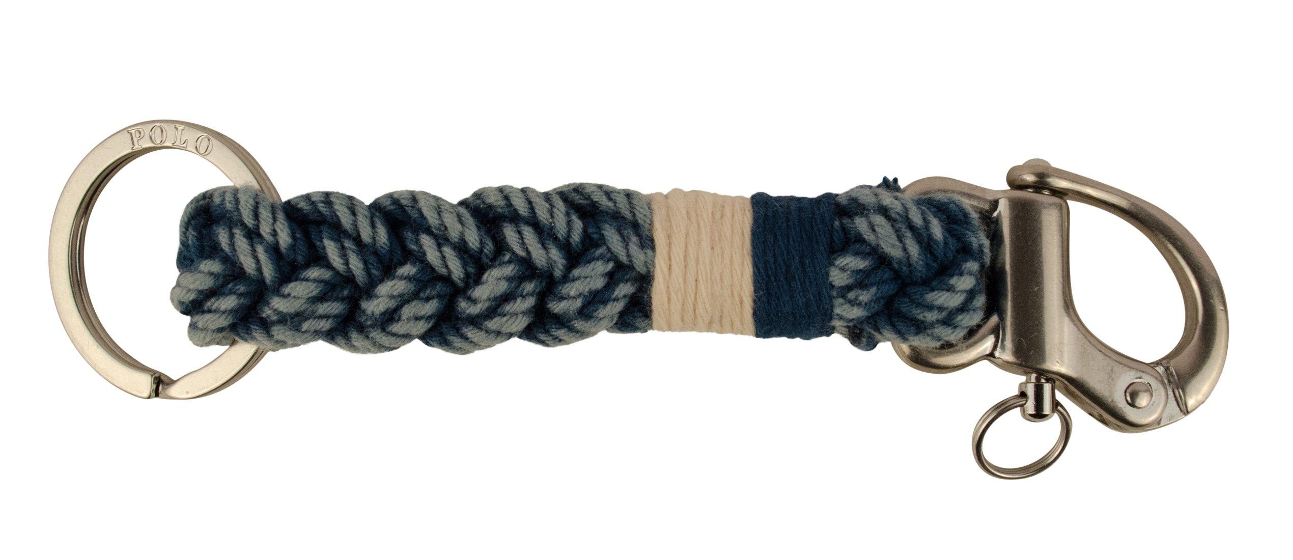Polo Ralph Lauren Snap-Shackle Braided Key Fob Key Chain-I-OS