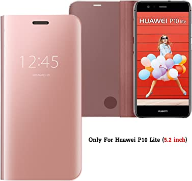 Guran® Mirror Efecto Espejo Funda para Huawei P10 Lite Clear View ...