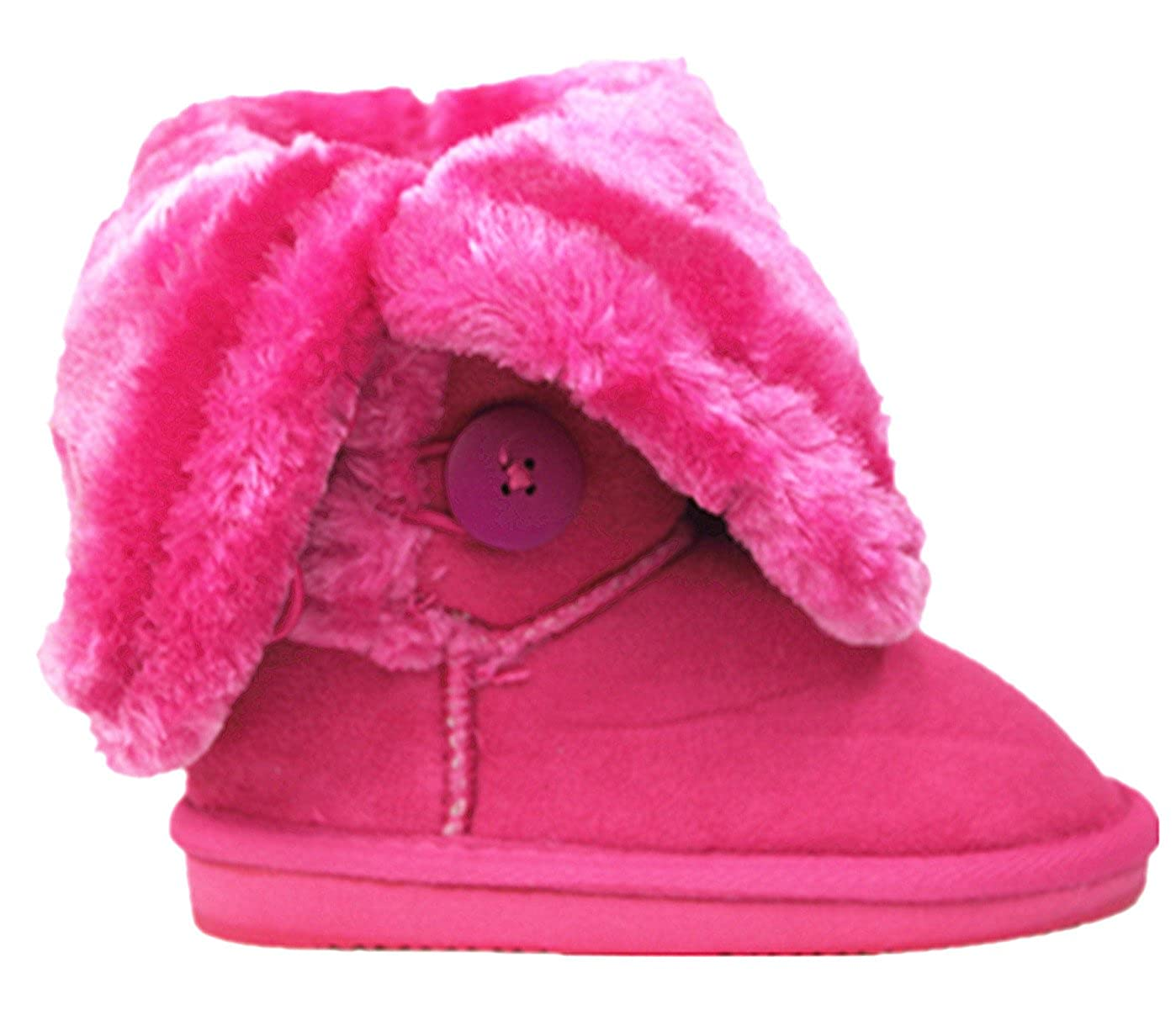 Amazon.com   SF Kids Girls Four Button Faux Fur Lined Shearling Mid Calf Under Knee Winter Boots   Shoes