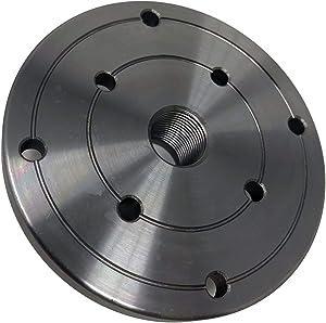 "4"" HD Steel Wood Lathe Face Plate, 3/4"" x 16tpi Threaded"
