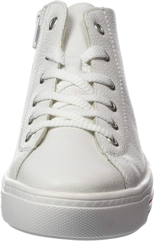 Remonte D0970, Sneaker a Collo Alto Donna Bianco Weiss 80