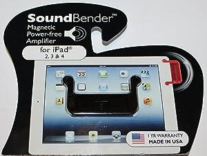SOUNDBENDER 2.0 Easy-Fit Magnetic Sound Enhancer for iPad 2 & iPad 3 & iPad 4 BLACK (SET OF 2)