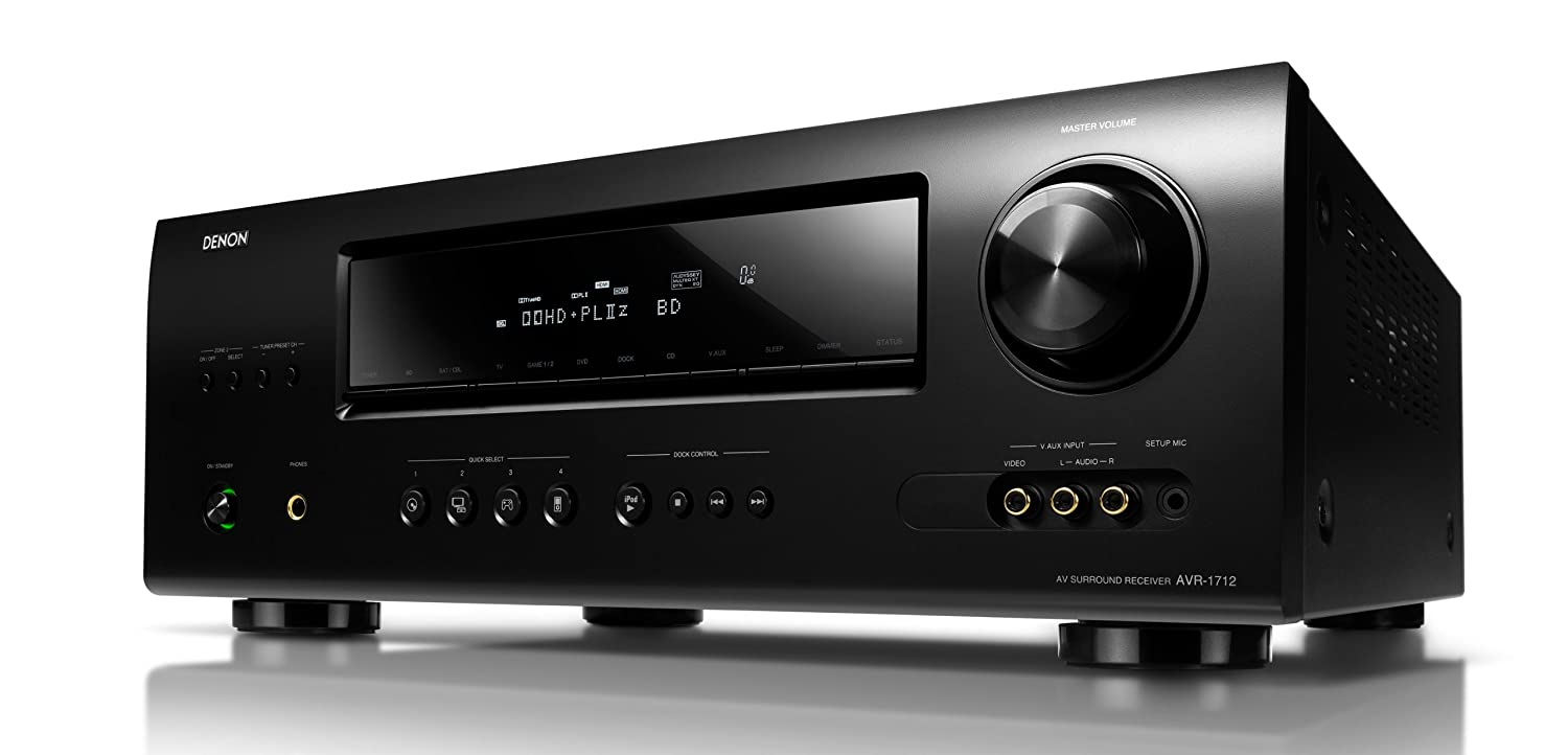 Denon AVR-1712 7.1 Channel Home Theatre Receiver with 3D-ready HDMI  switching: Amazon.ca: Electronics
