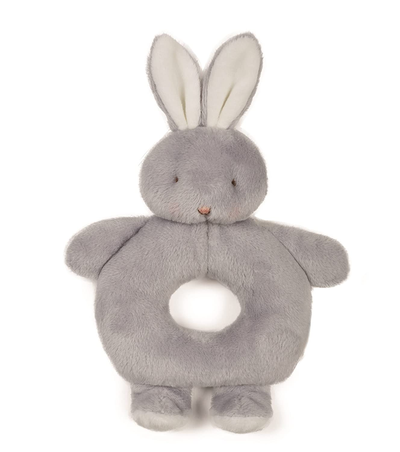 Bunnies by the Bay Free Shipping! Bunny Ring Rattle Pink